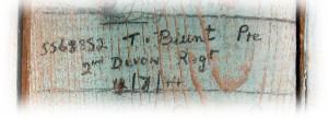 Pte Thomas Blunt's signature
