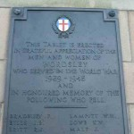 Inscription on Wordsley War Memorial