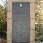 Wordsley War Memorial with Wellings name
