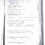 Pte Allan Oliver PoW Questionnaire Page 1