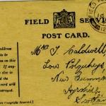 Tom Caldwell field postcard front