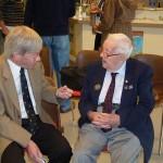 Veteran Albert Figg chatting to author Ian Daglish