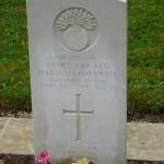 Lt Cornwall's Headstone
