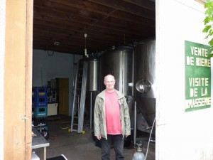 Patrick, brewer at Brasserie Chant du Loup