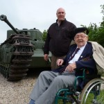 With Albert Figg and Churchill Tank at Hill 112