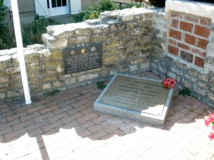 Memorial outside Marie at Cheux